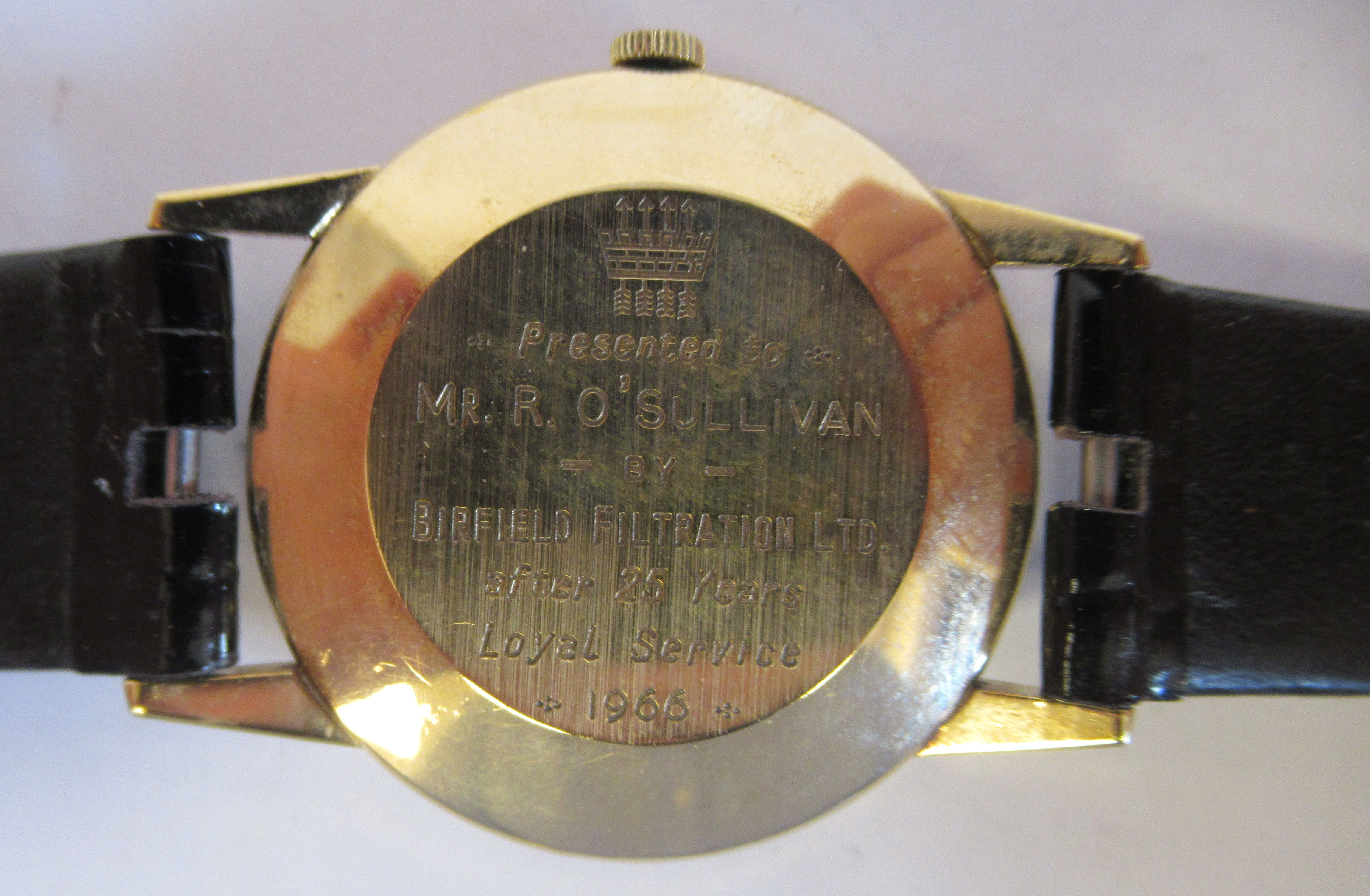 A 1966 Giraird-Perregaux 9ct gold cased wristwatch, the movement with sweeping seconds, faced by - Image 4 of 5