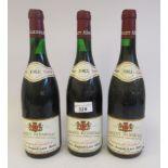 Wine, three bottles of 1983 Crozes Hermitage