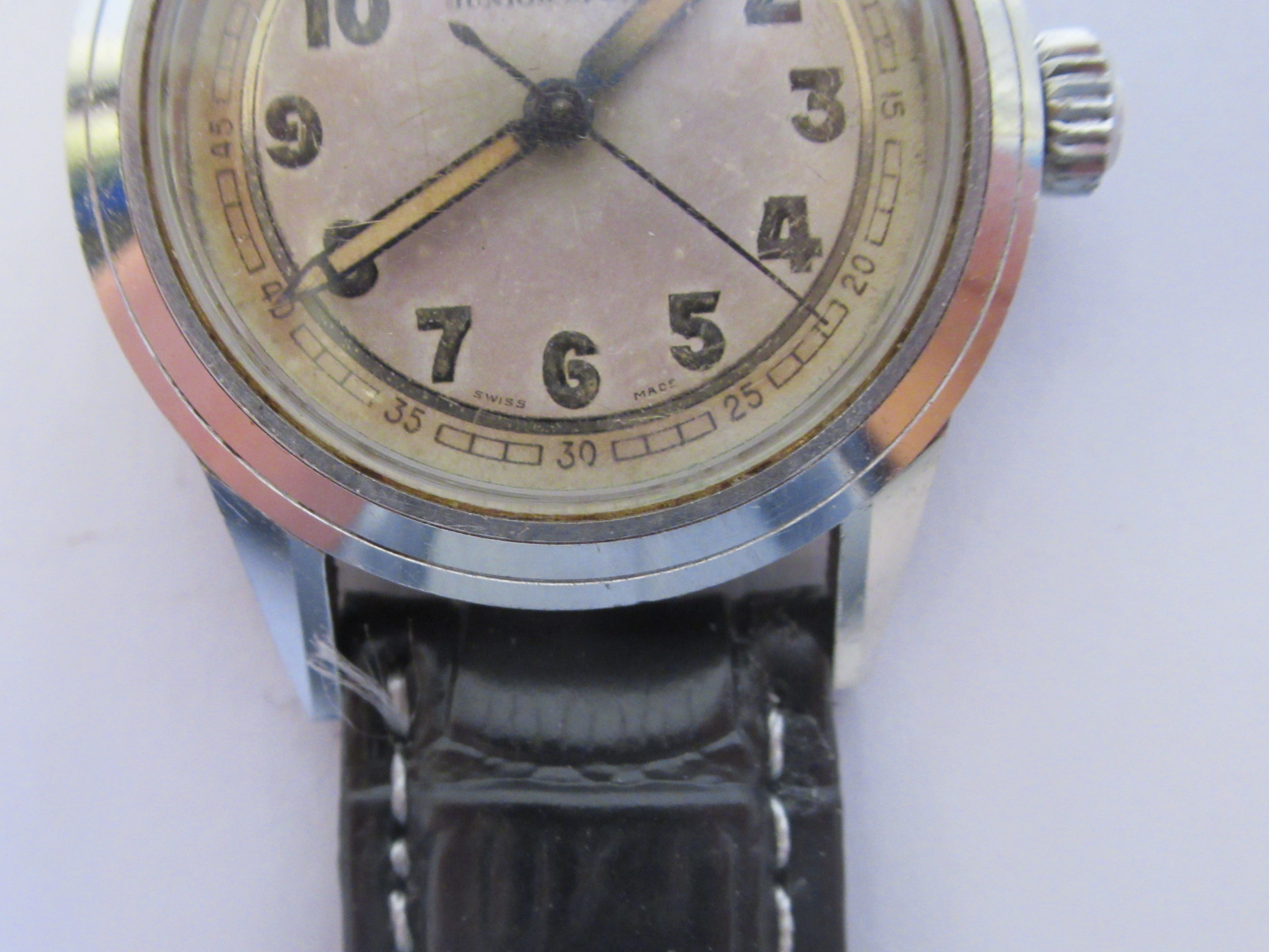 A 1940s boys Tudor Rolex Oyster Junior Sport stainless steel cased wristwatch, model 4454, the - Image 3 of 5