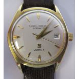 A 1960s Girard-Perregaux Giromatic, gold capped/stainless steel cased wristwatch, the 39 jewel
