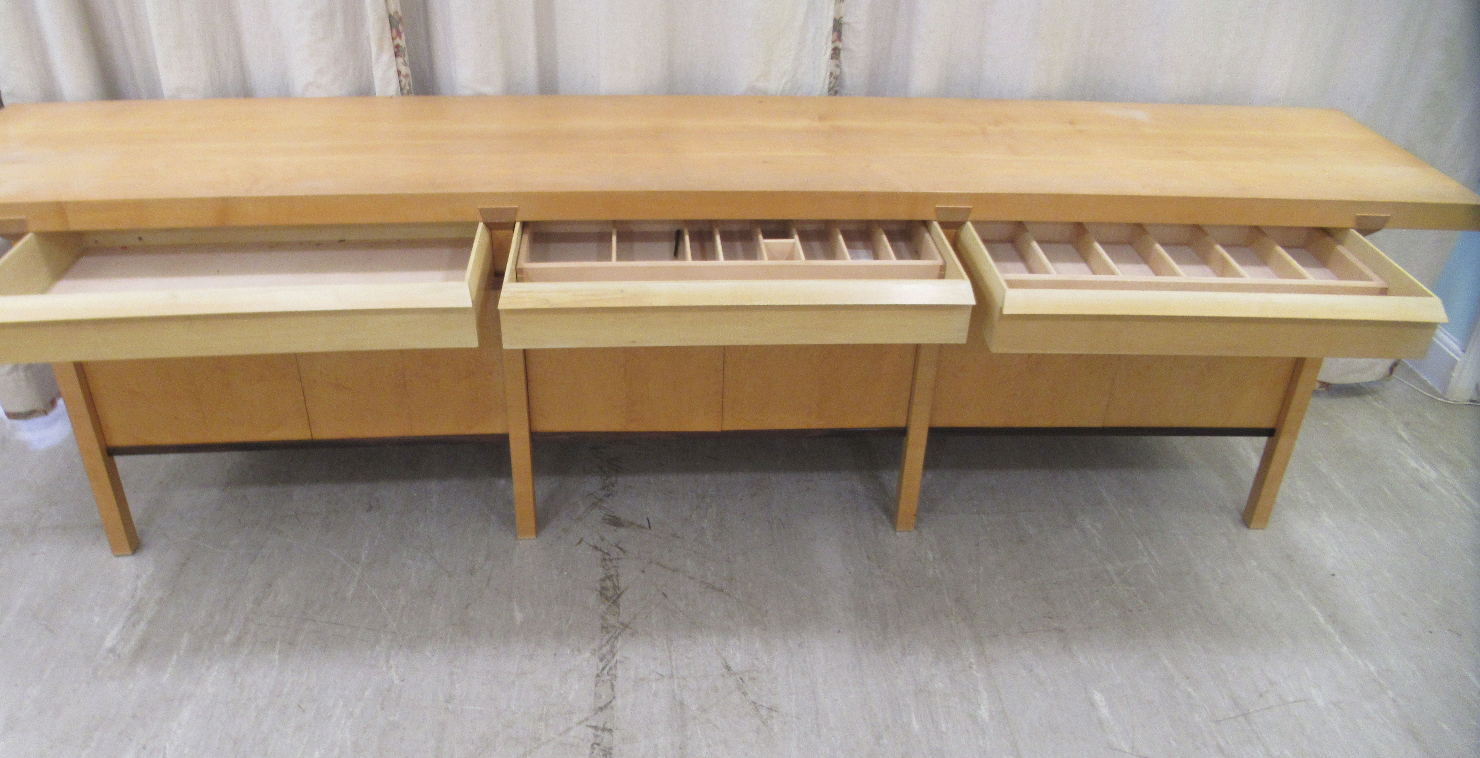 A 1960sJohn Makepeace OBE sideboard, constructed in sycamore, Andaman padauk and holly, - Image 6 of 12