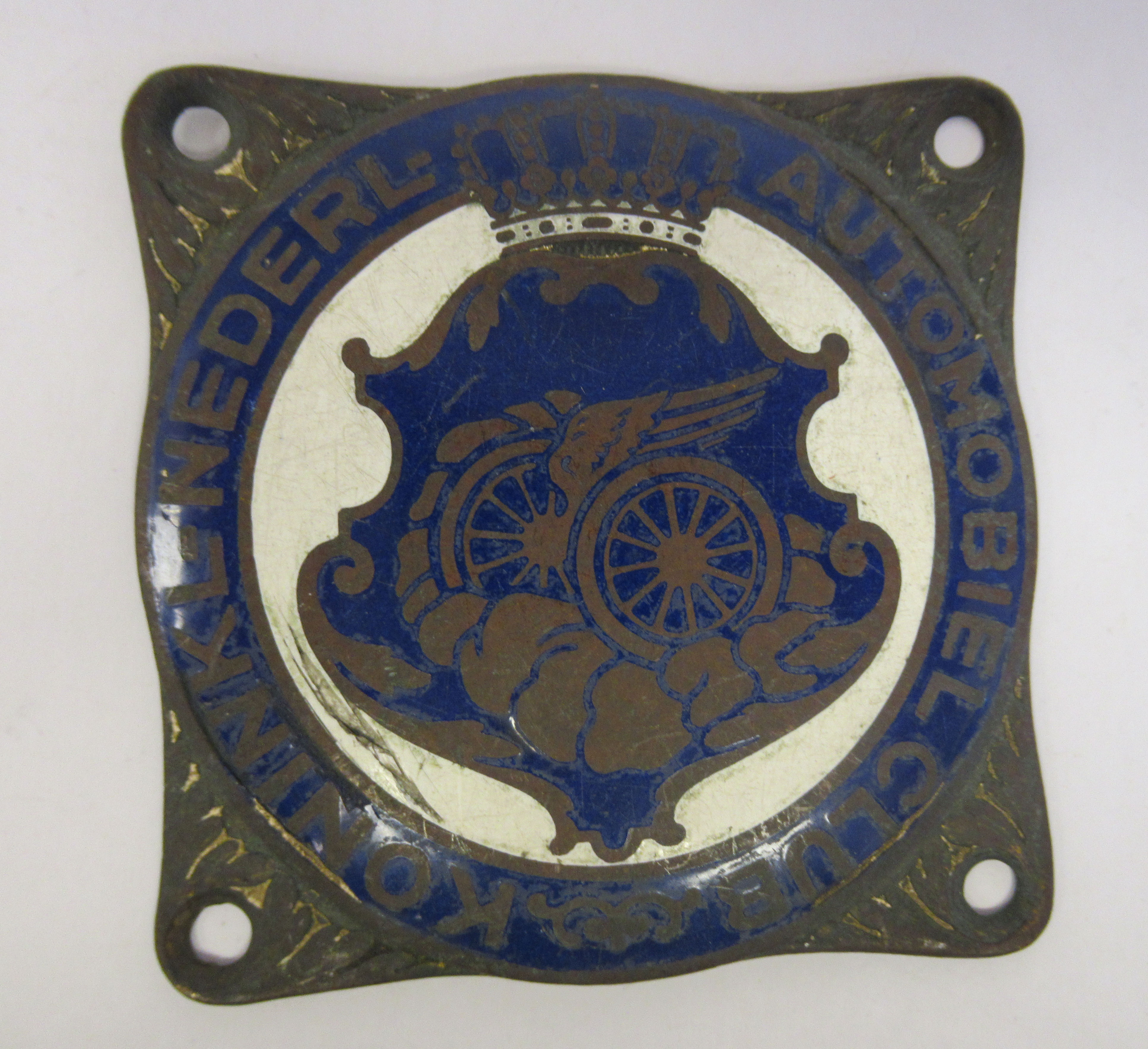Five early 20thC Continental European coloured enamel motoring related badges; and a car mascot - Image 6 of 7