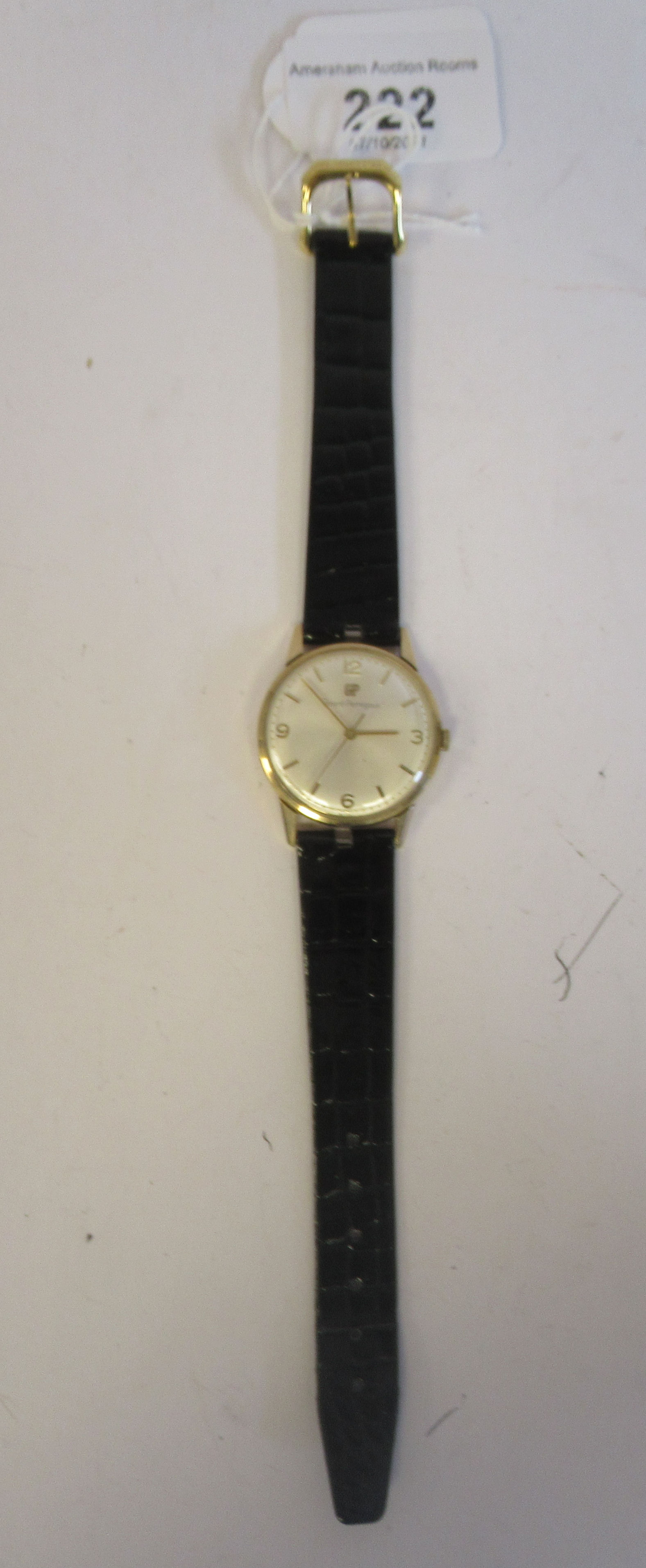 A 1966 Giraird-Perregaux 9ct gold cased wristwatch, the movement with sweeping seconds, faced by - Image 3 of 5