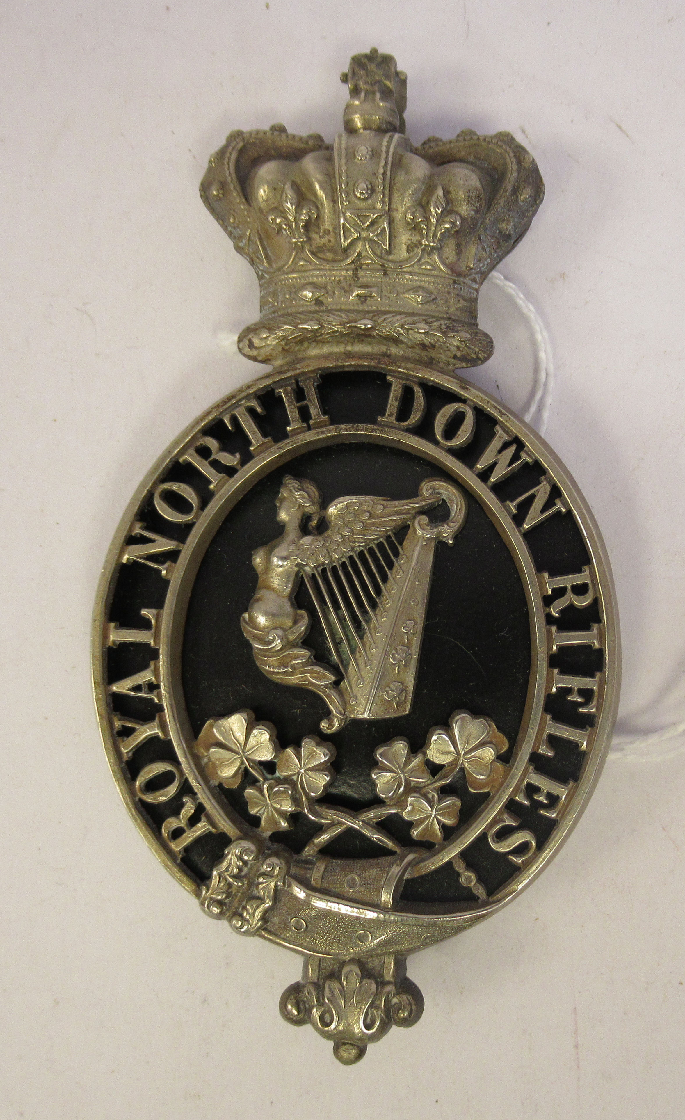 A Royal North Down Rifles plate (Please Note: this lot is offered subject to the statement made