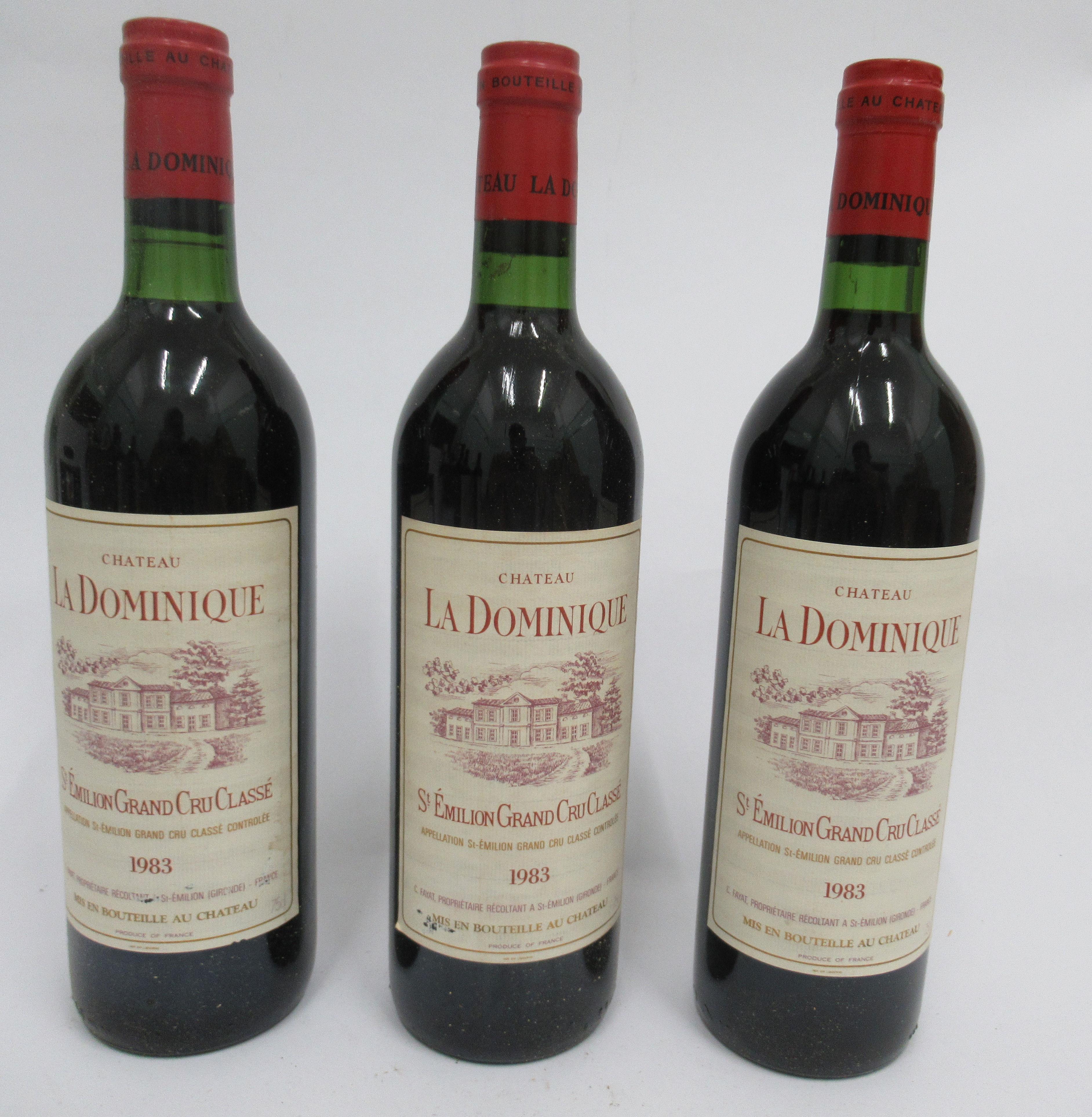 Wine, six bottles of 1983 Chateau La Dominique Grand Cru Classe - Image 2 of 4