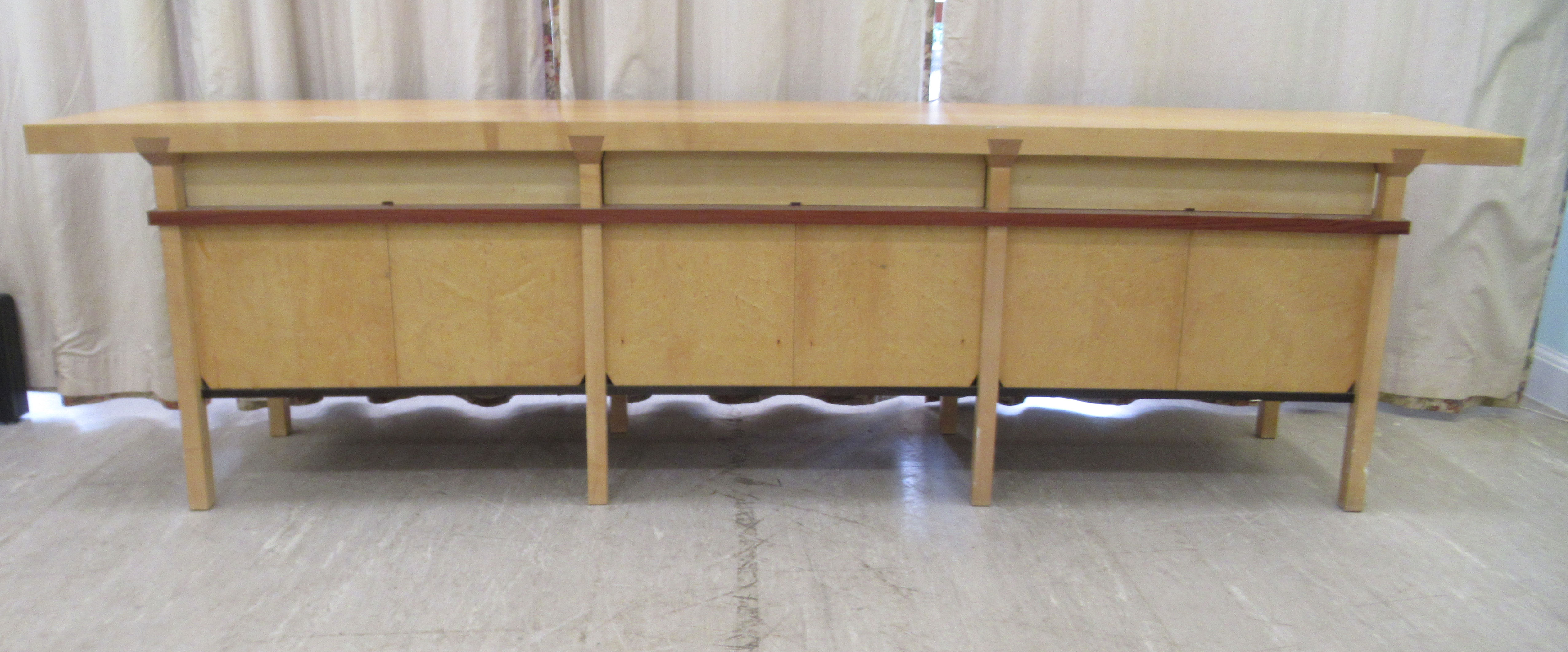 A 1960sJohn Makepeace OBE sideboard, constructed in sycamore, Andaman padauk and holly, - Image 12 of 12