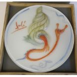 A Rosenthal Studio-Line glass plate, designed by Salvador Dali Limited Edition 1617/3000 boxed