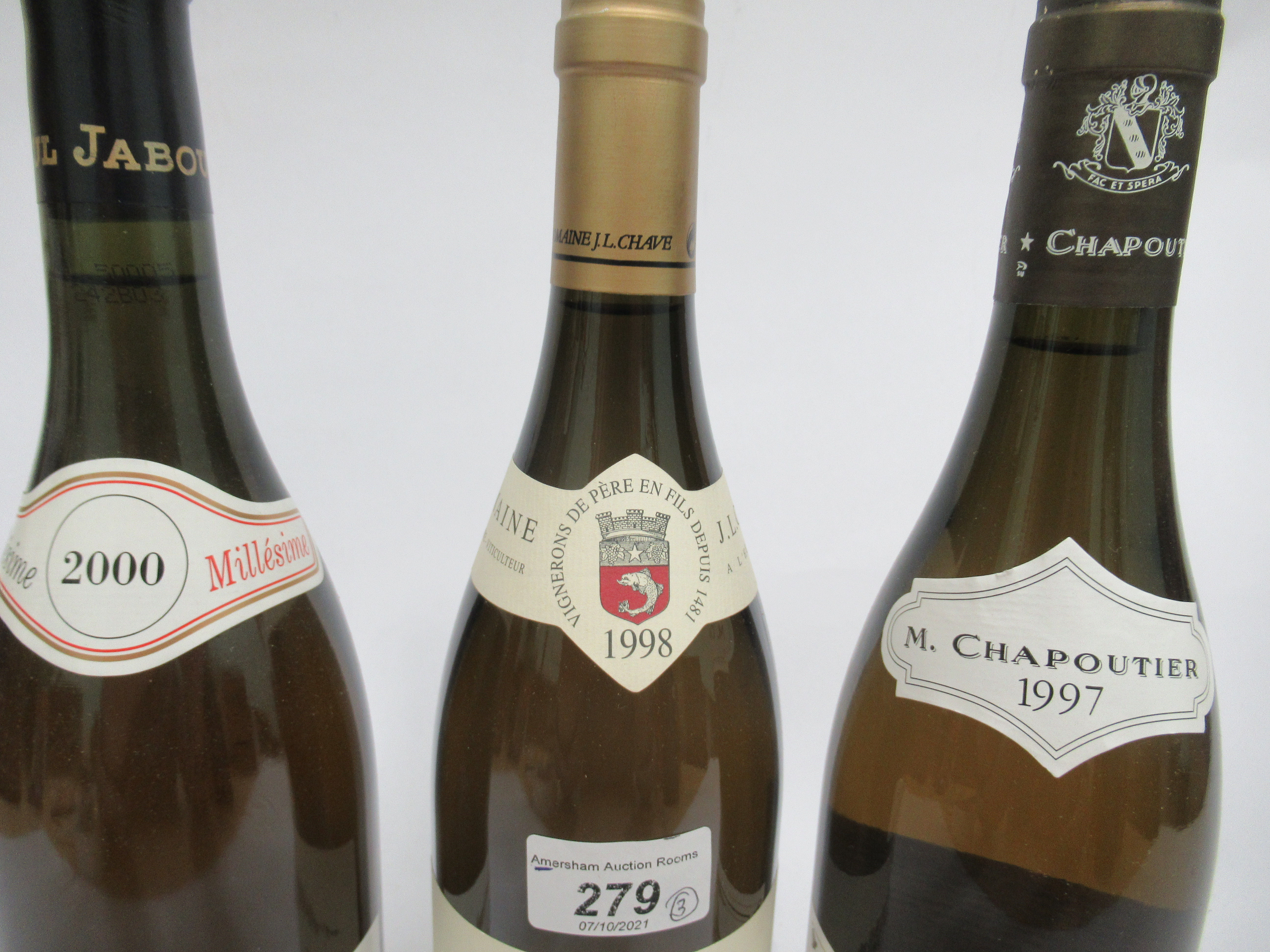 Wine, viz. a 1998 Hermitage Domaine Jean-Louis Chave; a 2000 Hermitage; and a 1997 Chante-Alouette - Image 2 of 4