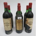 Wine, three bottles of 1978 Chateau Charmail; and three bottles of 1982 Clos des Moines