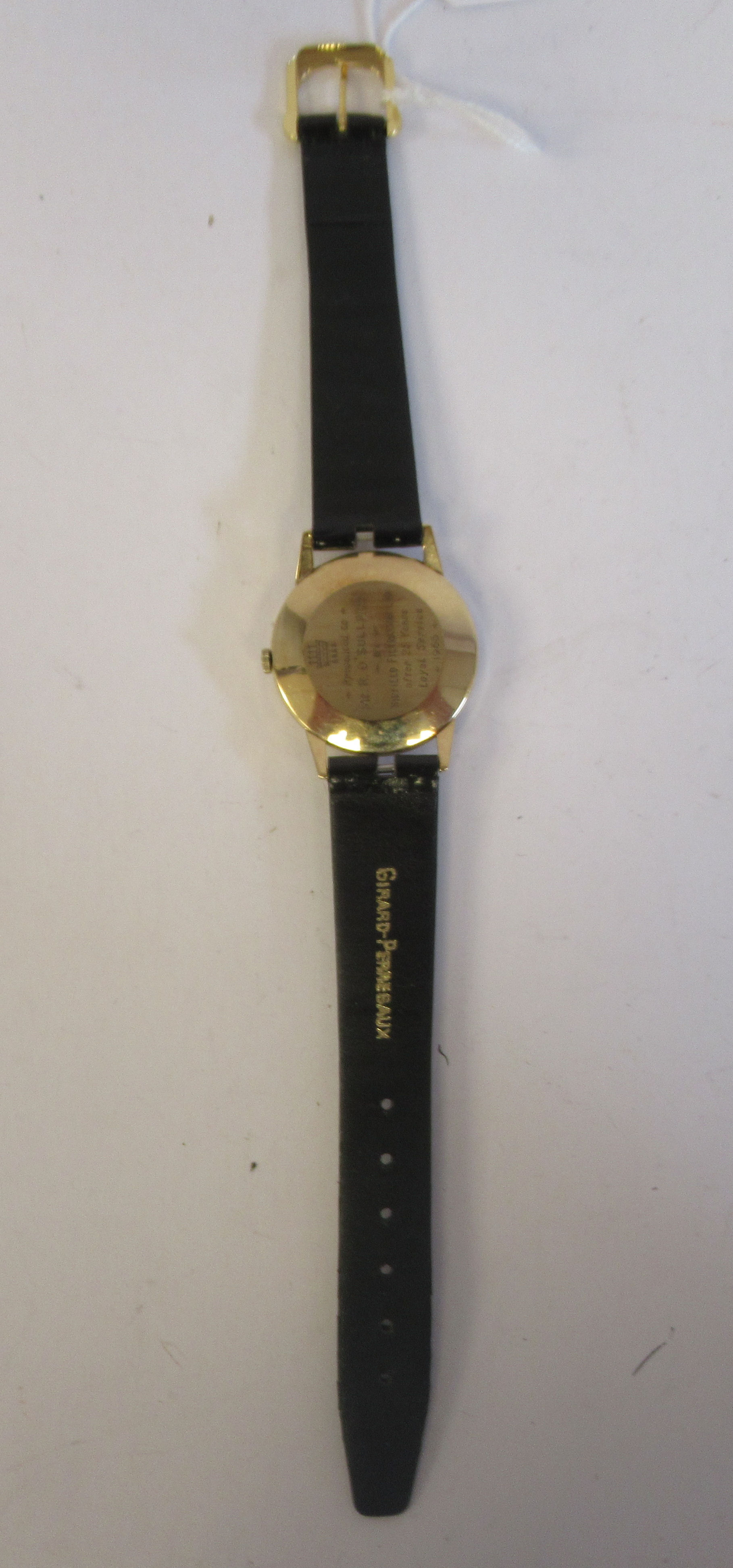 A 1966 Giraird-Perregaux 9ct gold cased wristwatch, the movement with sweeping seconds, faced by - Image 5 of 5