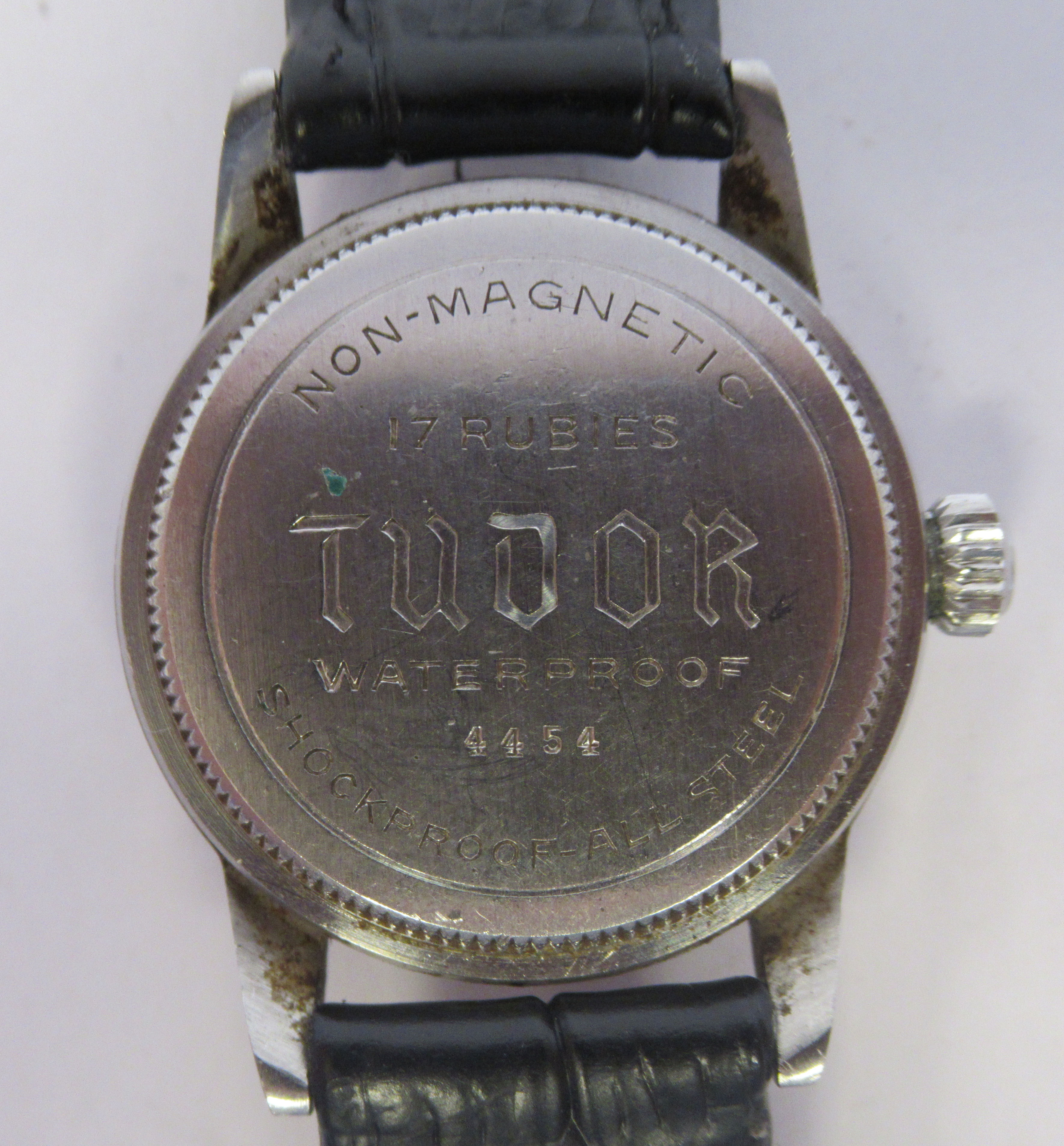 A 1940s boys Tudor Rolex Oyster Junior Sport stainless steel cased wristwatch, model 4454, the - Image 4 of 5