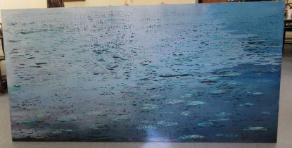 "Luke Elwes - 'Aquaterra' oil on canvas bears a signature, a title verso & dated 2021/13 53"" x 84"""