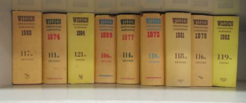 Books: nine editions of 'Wisden Cricketer's Almanac' published 1969 - 1984