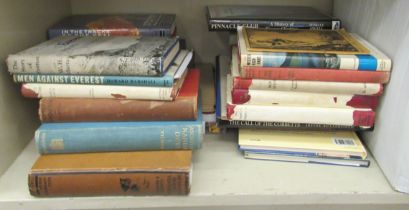 Books, mountaineering and associated activities: to include 'Kenya Mountain' by EAT Dutton; and '