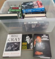 Books, gangsters, their lives and lifestyles: to include 'The Krays' Lieutenant' by Albert Donoghue;