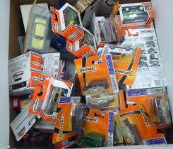 Uncollated boxed diecast model vehicles, mainly Matchbox: to include Hero-City series