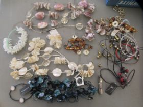 Costume jewellery, some bearing the label for Langani: to include necklaces and bracelets
