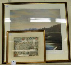 After Sir Winston Churchill - 'Evening Glow at Mimiza' Limited Edition 610/750 coloured print