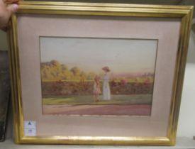 "Philip Connard - 'High Summer' watercolour bears a signature 10"" x 14.5"" framed"