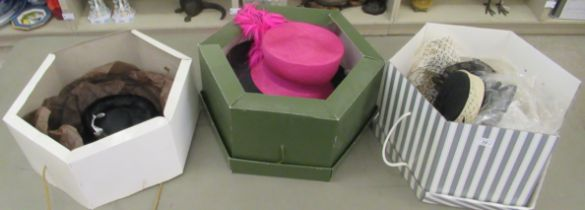 Ladies designer hats: to include Philip Treacy, Peter Bettley and Cappelli Condici