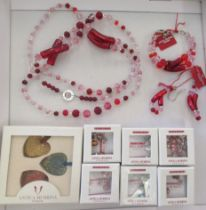 Costume jewellery by Antica Murrina, Venezia: to include a necklace and earrings