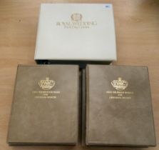 A 1981 Royal Wedding album of First Day covers; and two similar