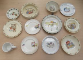 A child's 1940s Shelley china warmer plate, illustrated by Mabel Lucie Attwell, inscribed 'I took