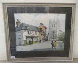"Johnnie Walker - 'Waltham Abbey' watercolour bears a signature 18"" x 14"" framed"