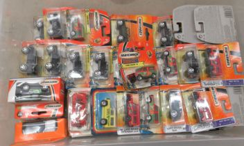 Uncollated, boxed, diecast model vehicles, mainly Matchbox: to include Land Rover