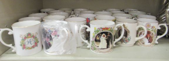 Royal related ceramics: to include mainly china mugs: to include the Platinum Wedding Anniversary of