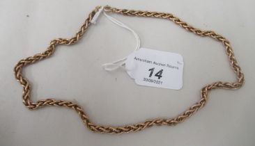 A 9ct gold ropelink chain