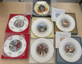 """Decorative ceramics, mainly plates with examples by Coalport and Royal Doulton 9""""-11""""dia some"""