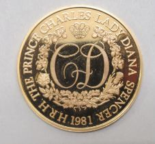 A Limited Edition 75 Birmingham Mint 22ct gold proof coin to commemorate the Royal Wedding of Prince