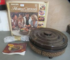 A 1970s Philips heated hostess table carousel boxed