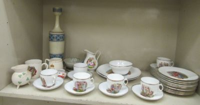 Ceramics: to include an early 20thC Continental porcelain tea set, decorated with classical figures