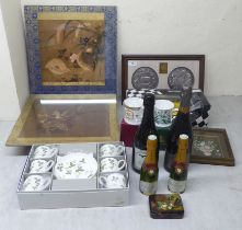 """A mixed lot: to include 'The Waterloo Medal, no.507' 5""""dia framed"""