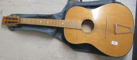 A six string accoustic guitar