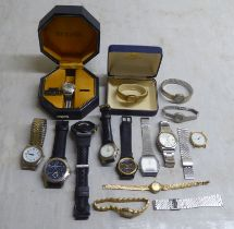 Wristwatches: to include a gold plated stainless steel Mappin & Webb example boxed