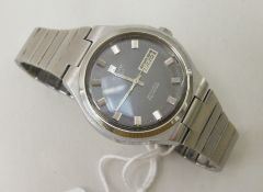A Tissot Seastar stainless steel cased, strapped wristwatch, the automatic movement faced by a baton