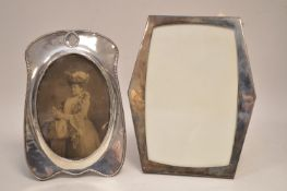 Two silver mounted photograph frames