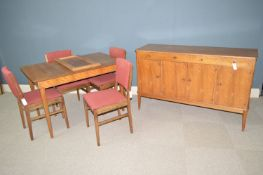 Gordon Russell of Broadway: mid 20th Century dining room suite.