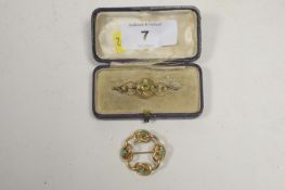 Two Edwardian brooches.