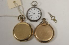 Three pocket watches.