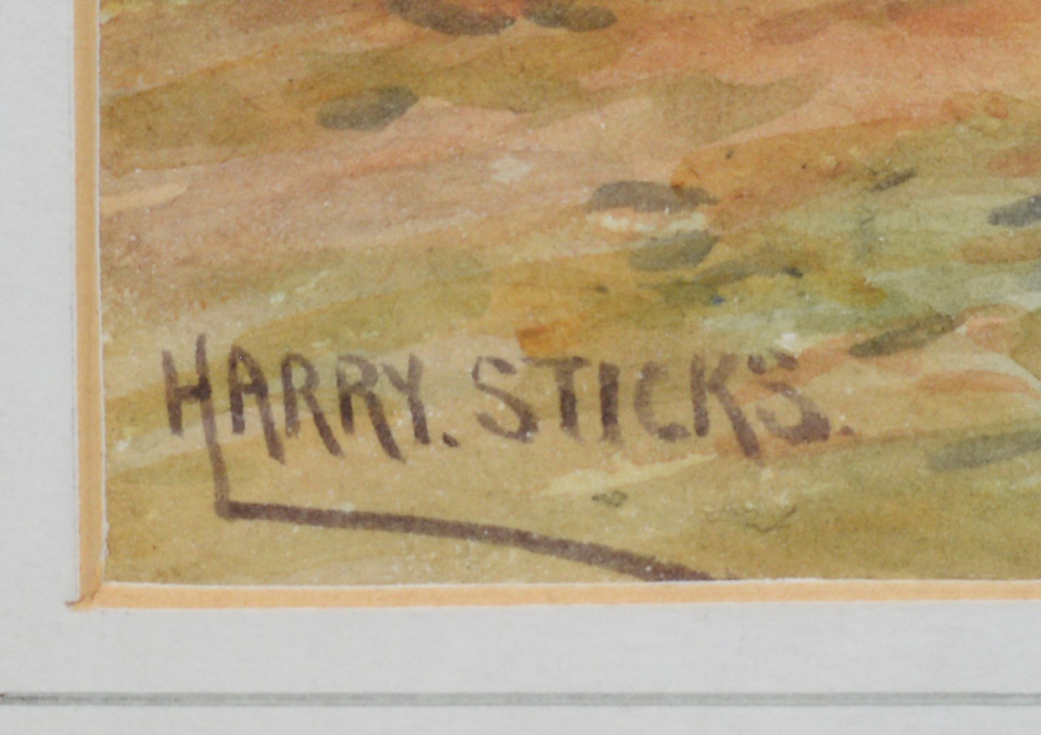 Harry James Sticks - watercolours. - Image 3 of 4