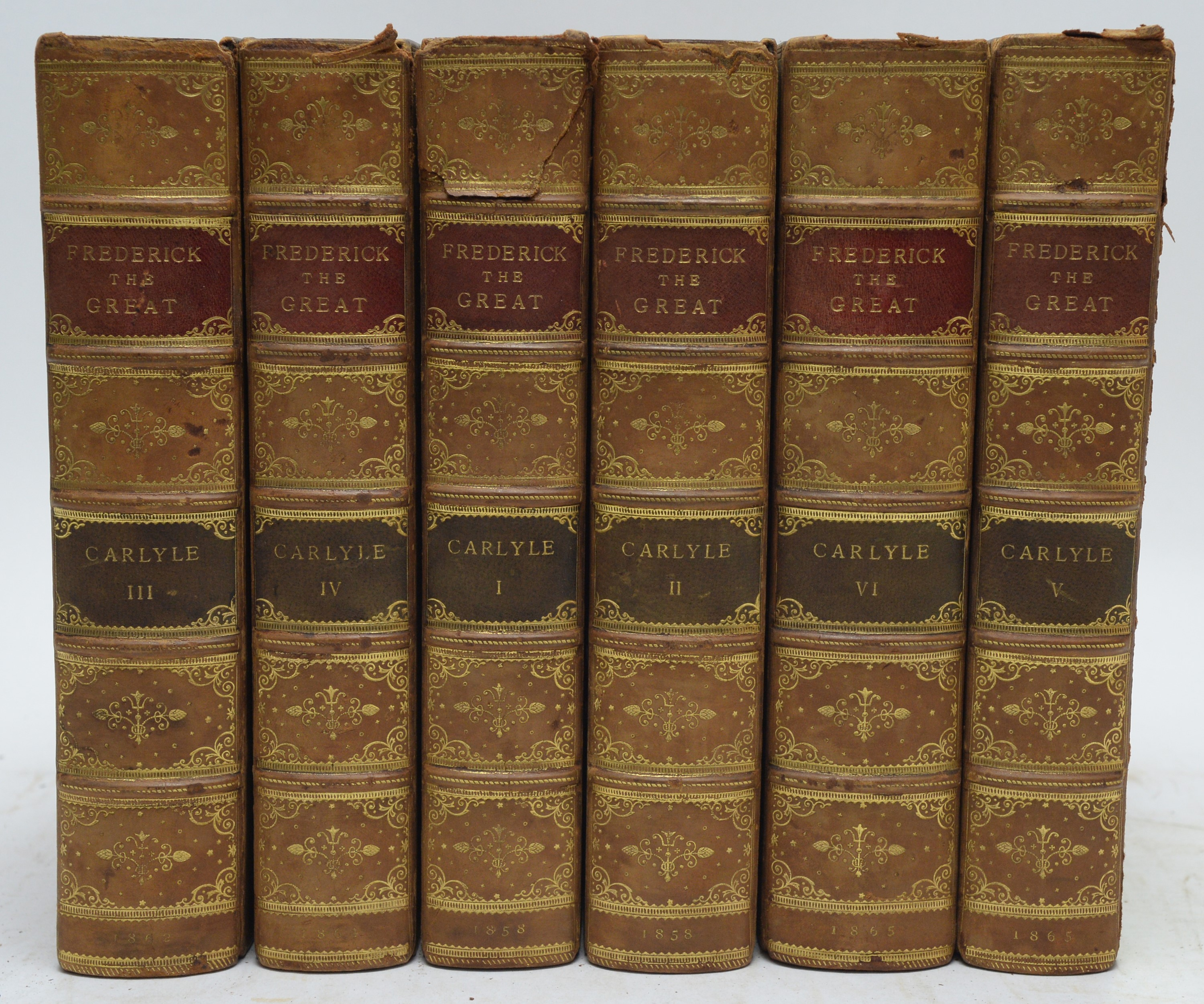 Carlyle (Thomas) History of Frederick The Great of Prussia.
