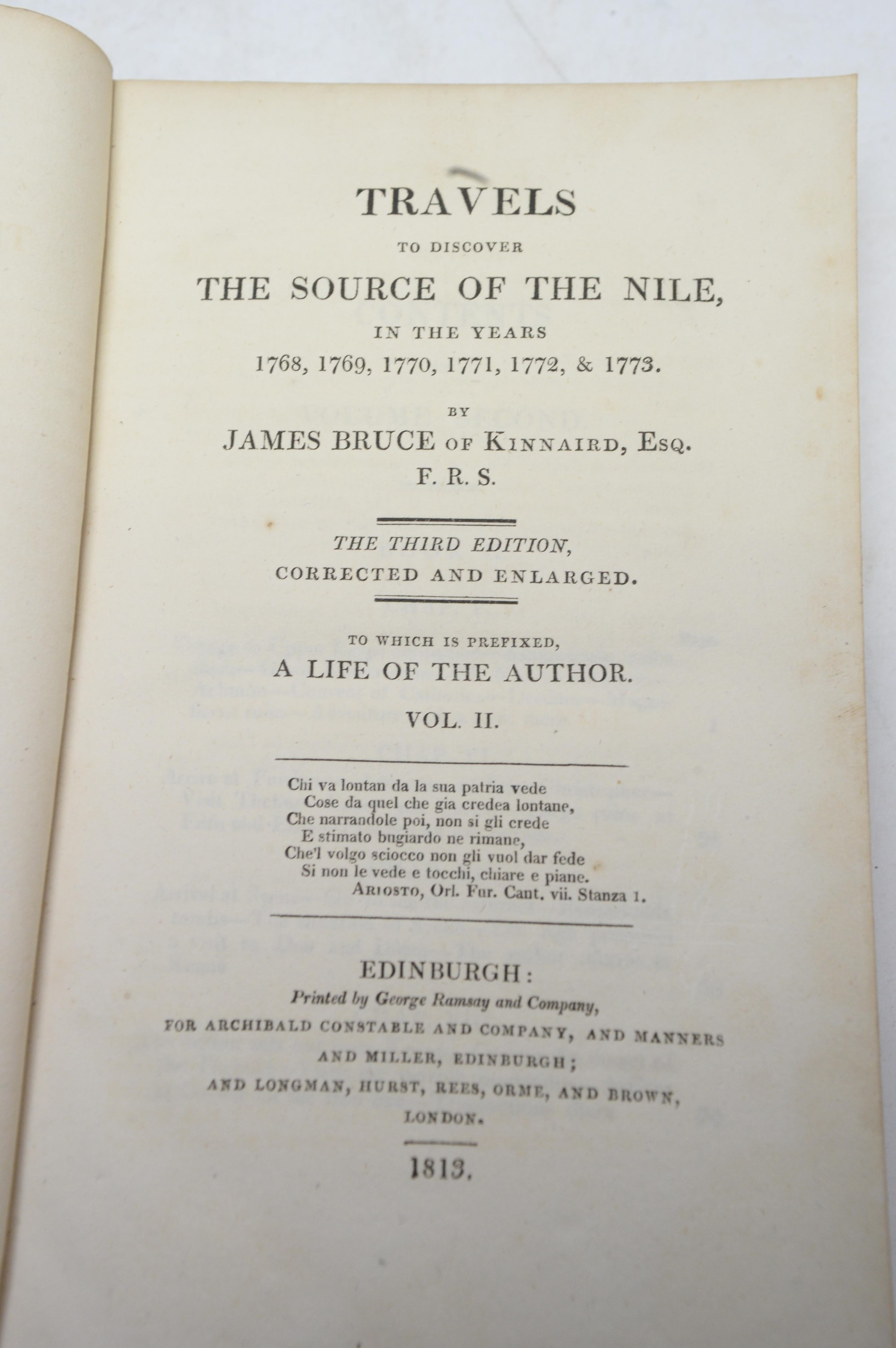 Bruce (James) Travels To Discover The Source of the Nile. - Image 4 of 4