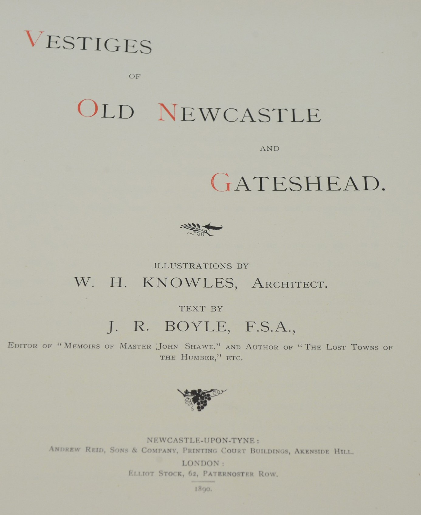 Knowles (W.H.) and Boyle (J.R.) and other Authors on Northumbrian interest. - Image 2 of 4