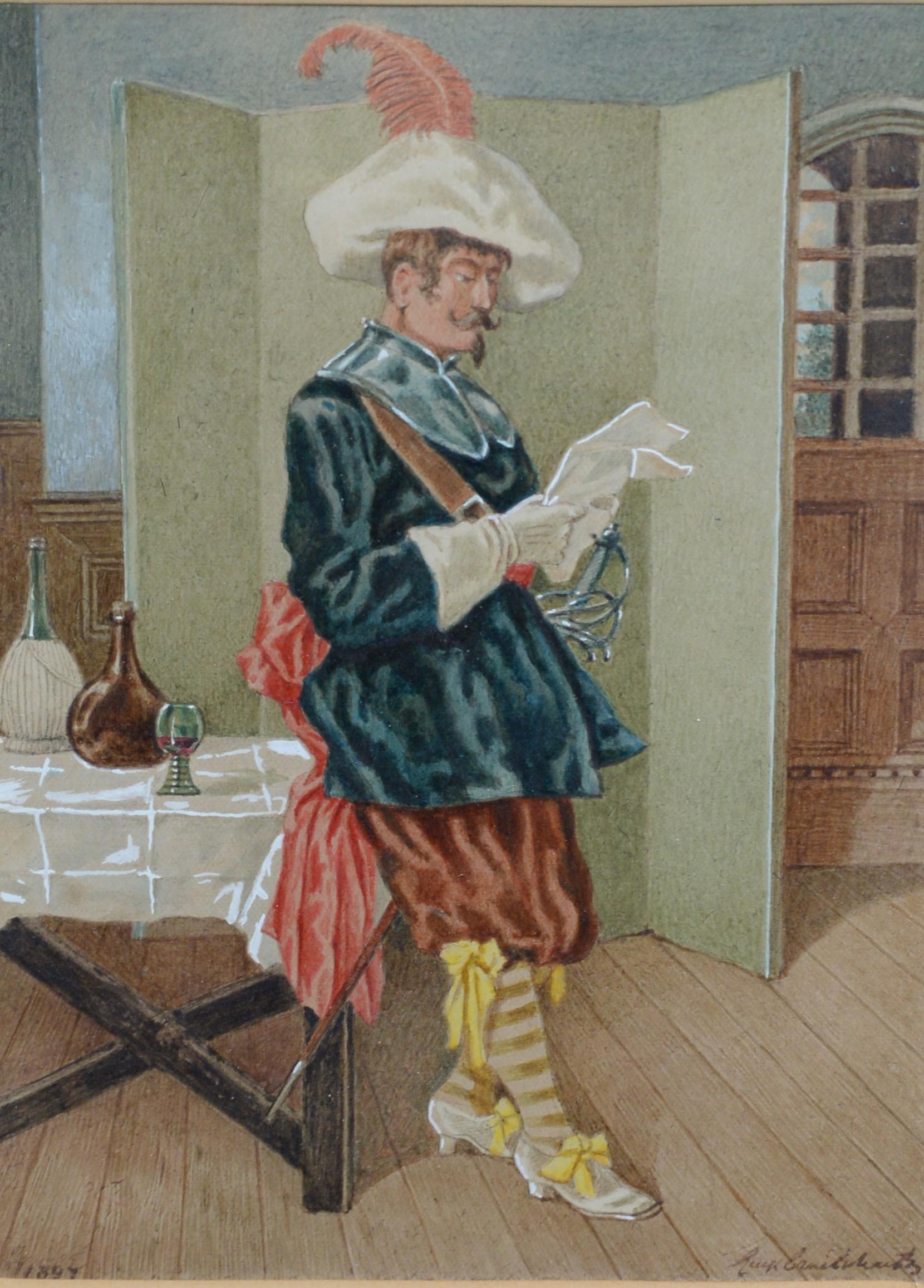 George Cruikshank, jnr. - watercolours. - Image 2 of 3