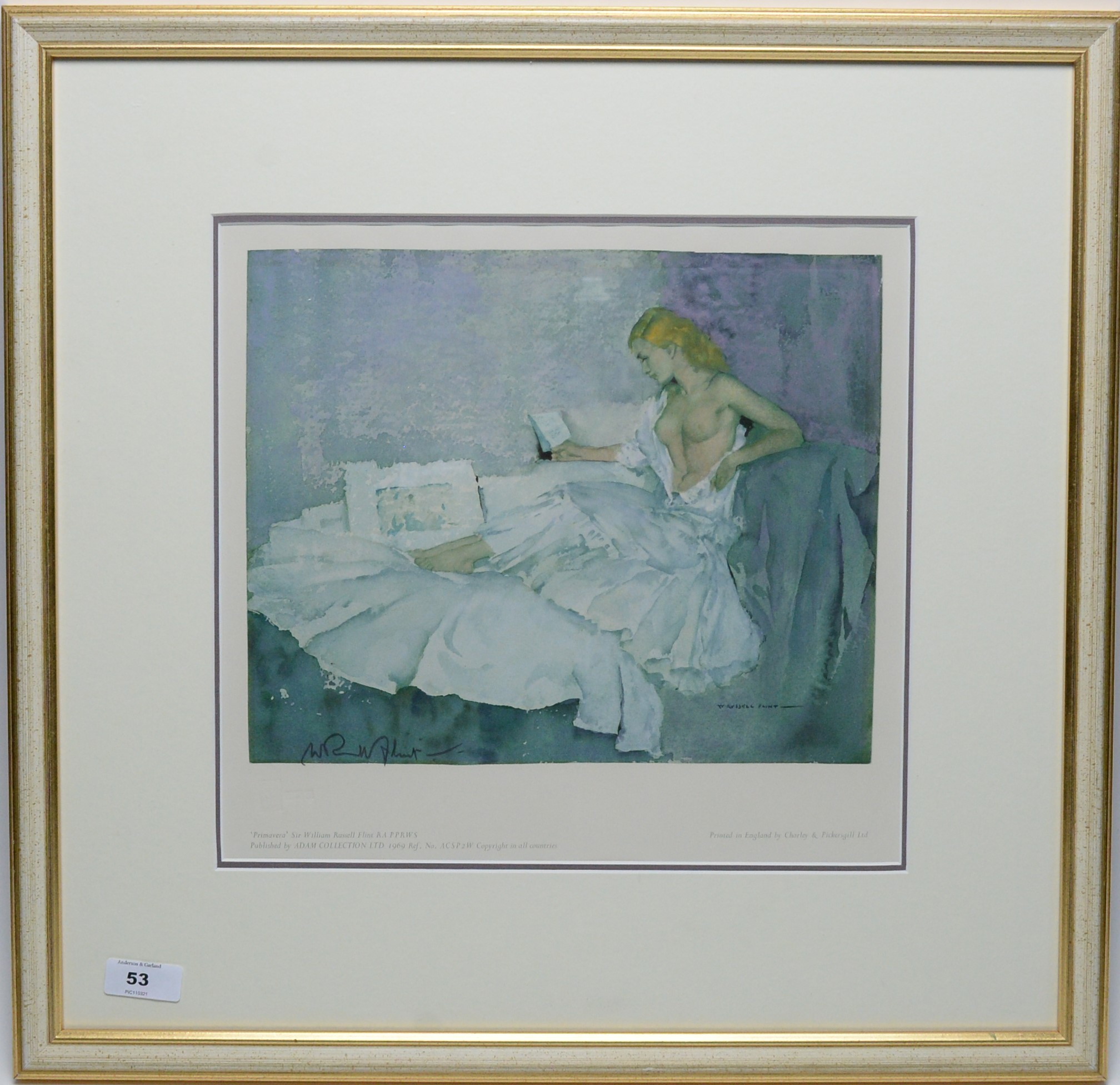 Sir William Russell Flint - limited edition.