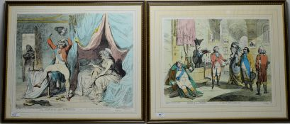 After James Gillray - pair of prints.
